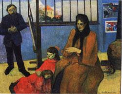 Paul Gauguin The Studio of Schuffenecker(The Schuffenecker Family) oil painting image