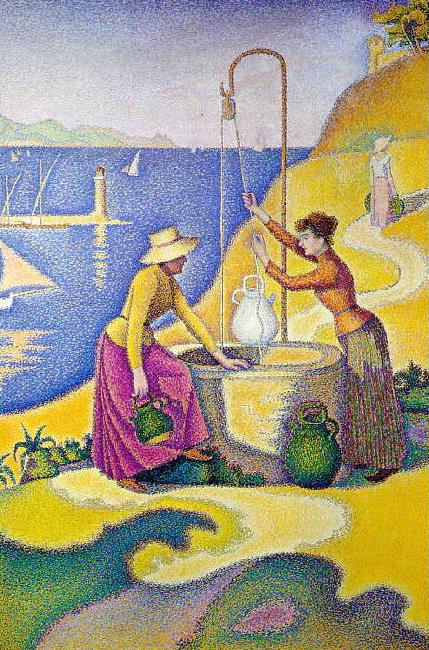 Paul Signac Women at the Well France oil painting art