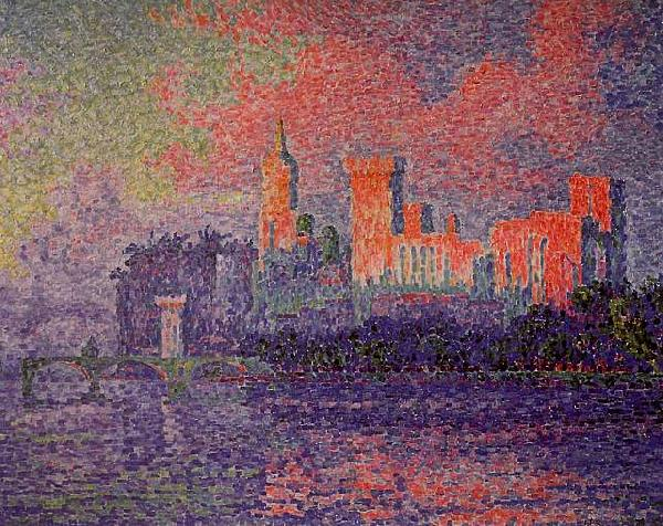 Paul Signac The Papal Palace, Avignon France oil painting art