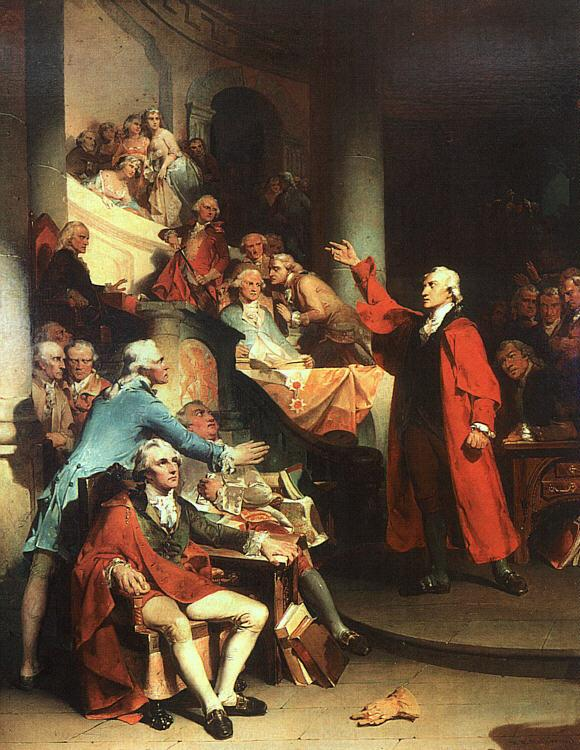 Peter F Rothermel Patrick Henry in the House of Burgesses of Virginia, Delivering his Celebrated Speech Against the St France oil painting art