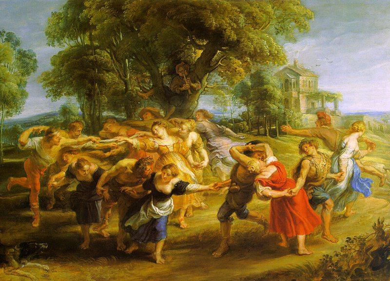 Peter Paul Rubens A Peasant Dance France oil painting art