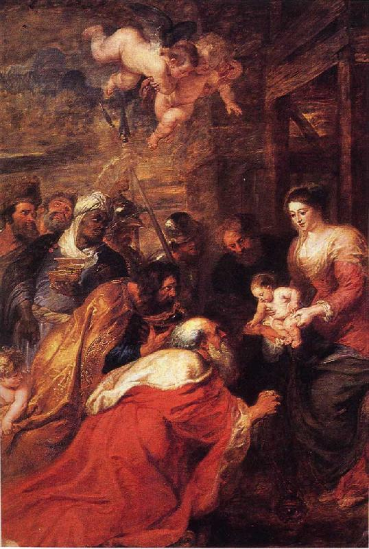 Peter Paul Rubens Adoration of the Magi France oil painting art