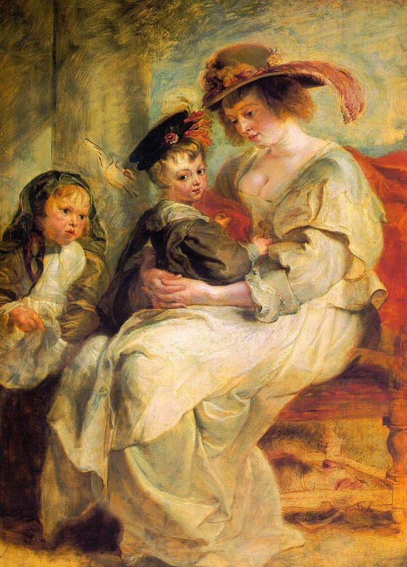 Peter Paul Rubens Helene Fourment and her Children, Claire-Jeanne and Francois France oil painting art