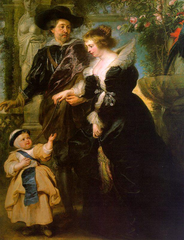 Peter Paul Rubens Rubens with his Wife, Helene Fourmont and Their Son, Peter Paul France oil painting art