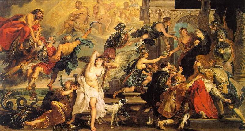 Peter Paul Rubens The Apotheosis of Henry IV and the Proclamation of the Regency of Marie de Medici on the 14th of May France oil painting art
