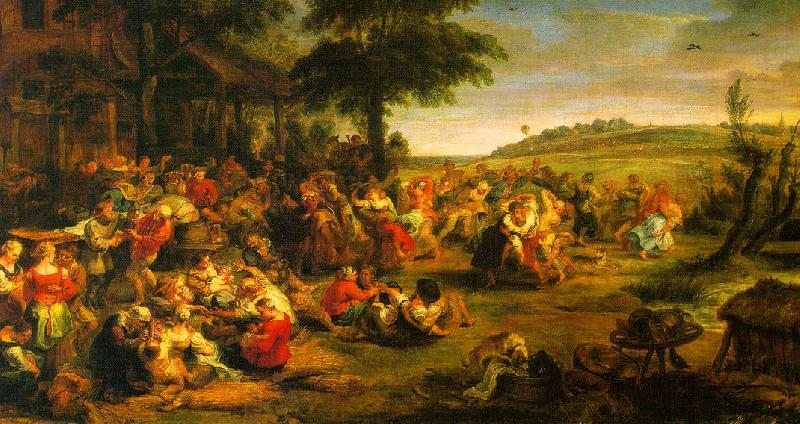 Peter Paul Rubens The Village Wedding France oil painting art