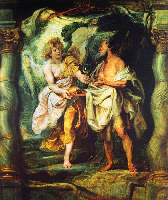 Peter Paul Rubens The Prophet Elijah Receiving Bread and Water from an Angel France oil painting art