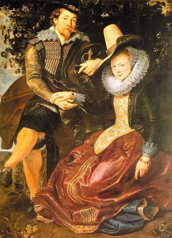 Peter Paul Rubens Rubens with His First Wife, Isabella Brandt, in the Honeysuckle Bower France oil painting art