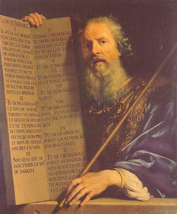 Philippe de Champaigne Moses with the Ten Commandments oil painting image