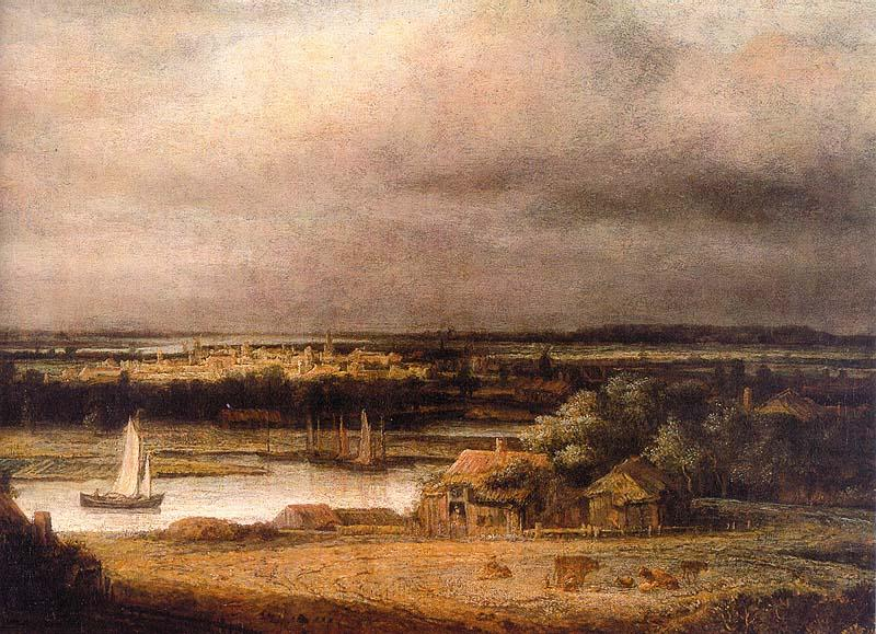 Philips Koninck Wide River Landscape oil painting image