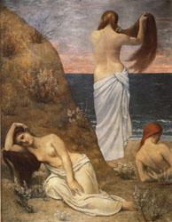 Pierre Puvis de Chavannes Young Girls on the Edge of the Sea oil painting image