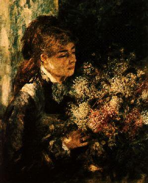 Pierre Renoir Woman with Lilacs France oil painting art