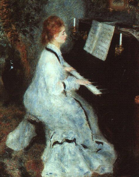Pierre Renoir Lady at Piano France oil painting art