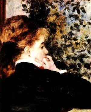Pierre Renoir Pensive France oil painting art