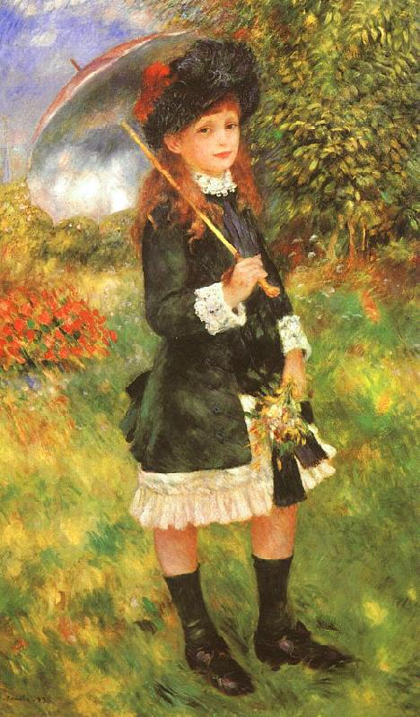 Pierre Renoir Young Girl with a Parasol France oil painting art