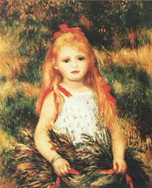 Pierre Renoir Girl with Sheaf of Corn France oil painting art