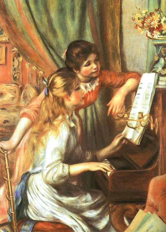 Pierre Renoir Two Girls at the Piano France oil painting art