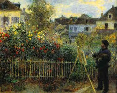 Pierre Renoir Monet Painting in his Garden France oil painting art