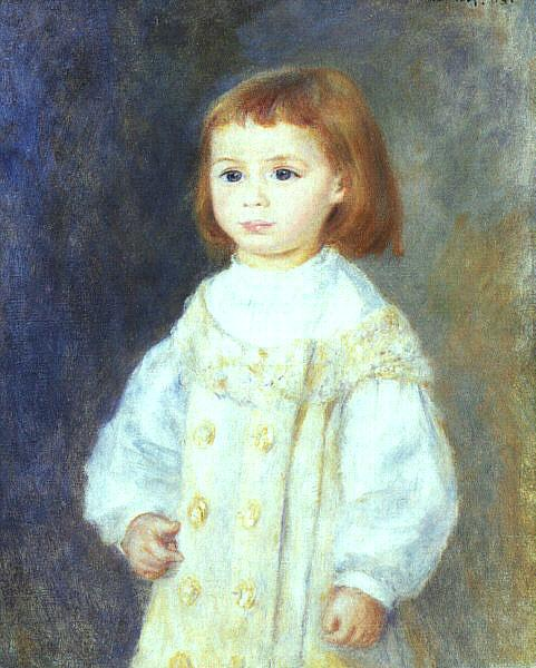 Pierre Renoir Child in White France oil painting art