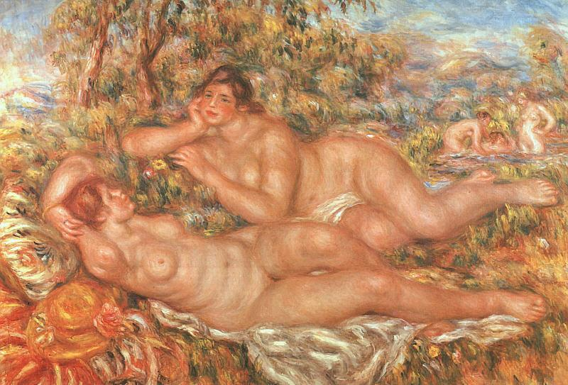 Pierre Renoir The Great Bathers France oil painting art