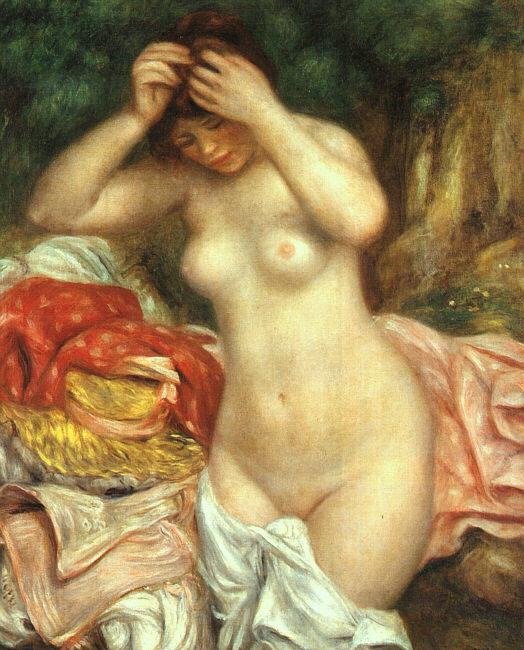 Pierre Renoir Bather Arranging her Hair France oil painting art