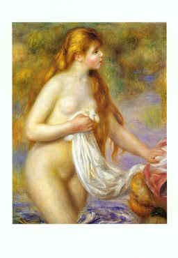 Pierre Renoir Bather with Long Hair France oil painting art