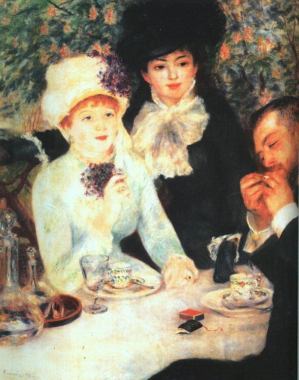 Pierre Renoir The End of the Luncheon France oil painting art