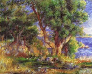 Pierre Renoir Landscape on the Coast near Menton France oil painting art