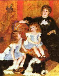 Pierre Renoir Madam Charpentier Children France oil painting art