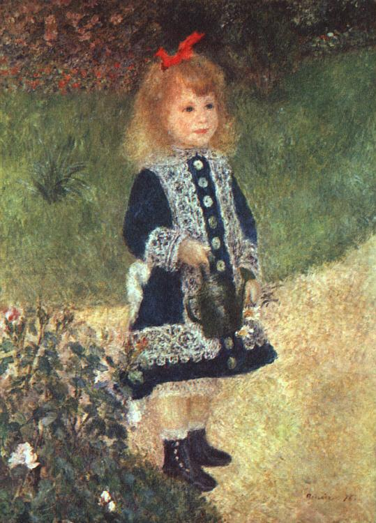 Pierre Renoir Girl and Watering Can France oil painting art