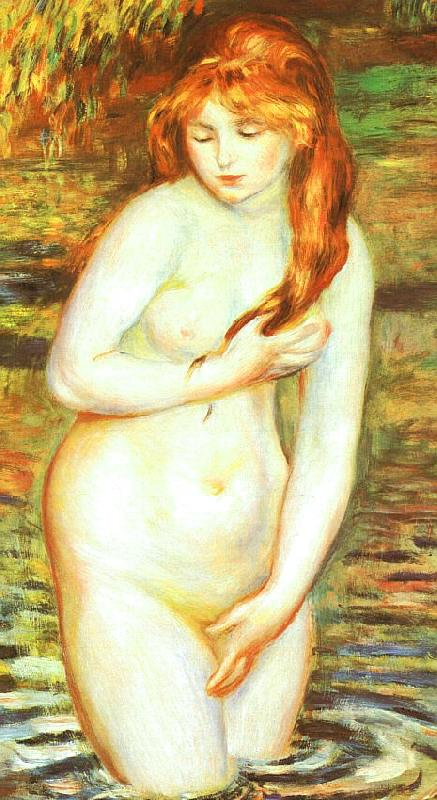 Pierre Renoir Young Woman Bathing France oil painting art
