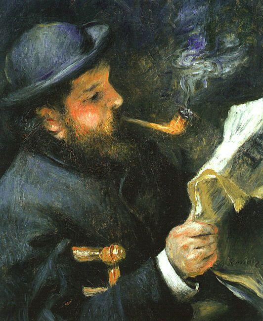 Pierre Renoir Claude Monet Reading oil painting image