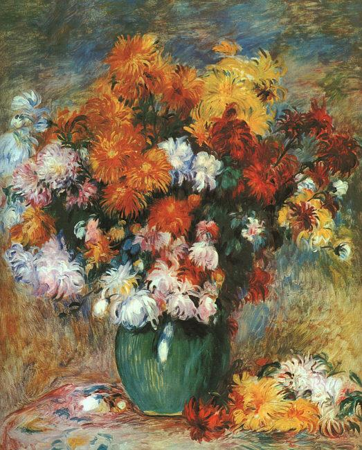 Pierre Renoir Bouquet de Chrysanthemes oil painting image