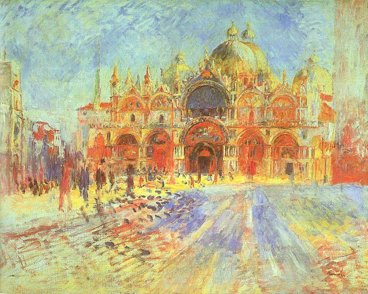 Pierre Renoir Venezia-Piazza San Marco France oil painting art