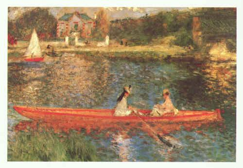 Pierre Renoir Boating on the Seine France oil painting art