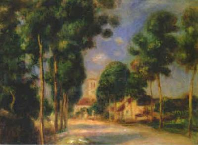 Pierre Renoir The Road To Essoyes France oil painting art