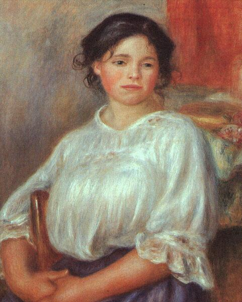 Pierre Renoir Young Girl Seated France oil painting art