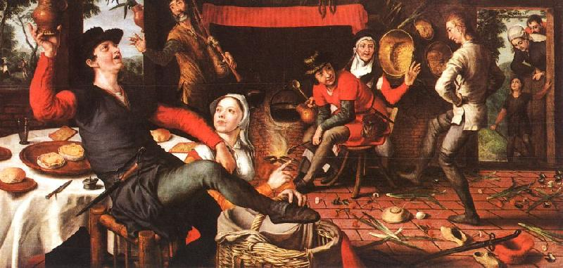 Pieter Aertsen The Egg Dance oil painting image