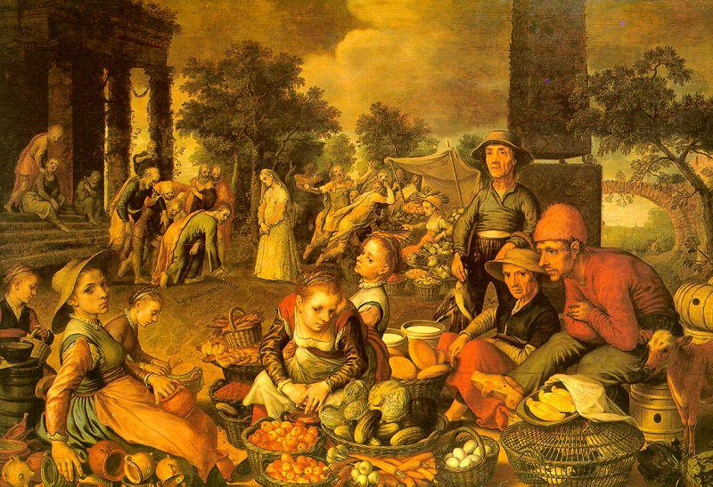 Pieter Aertsen Market Scene with Christ and the Adulteress oil painting image