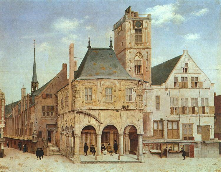 Pieter Jansz Saenredam The Old Town Hall in Amsterdam France oil painting art