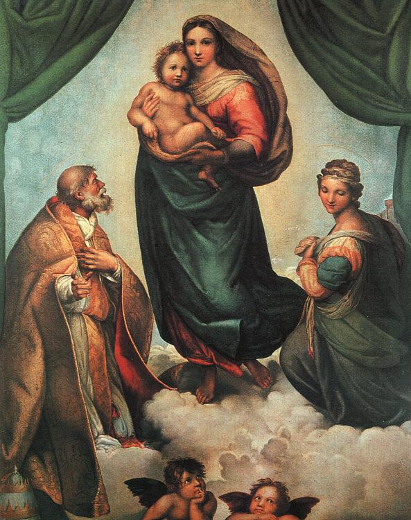 Raphael The Sistine Madonna France oil painting art