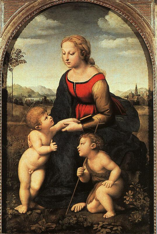 Raphael The Virgin and Child with John the Baptist France oil painting art