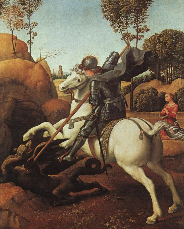 Raphael St.George and the Dragon France oil painting art