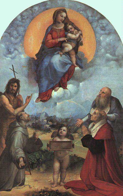 Raphael The Madonna of Foligno France oil painting art