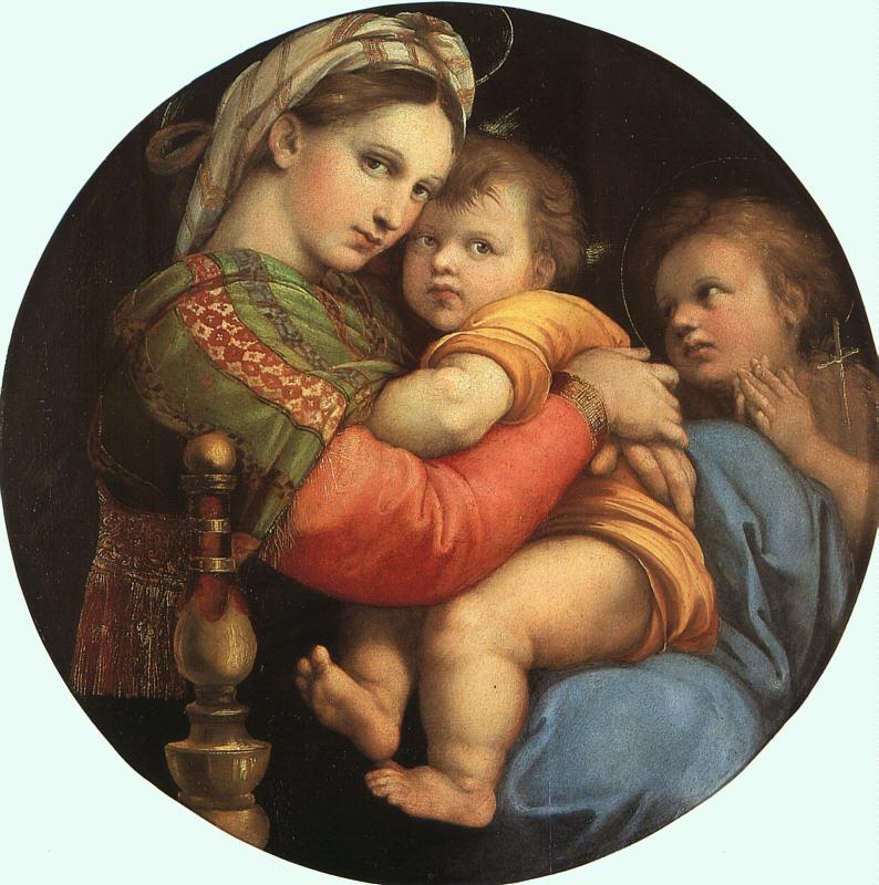 Raphael THE MADONNA OF THE CHAIR or Madonna della Sedia France oil painting art