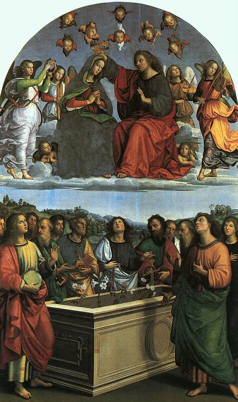 Raphael Coronation of the Virgin France oil painting art