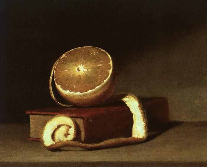 Raphaelle Peale Still Life with Orange and Book France oil painting art