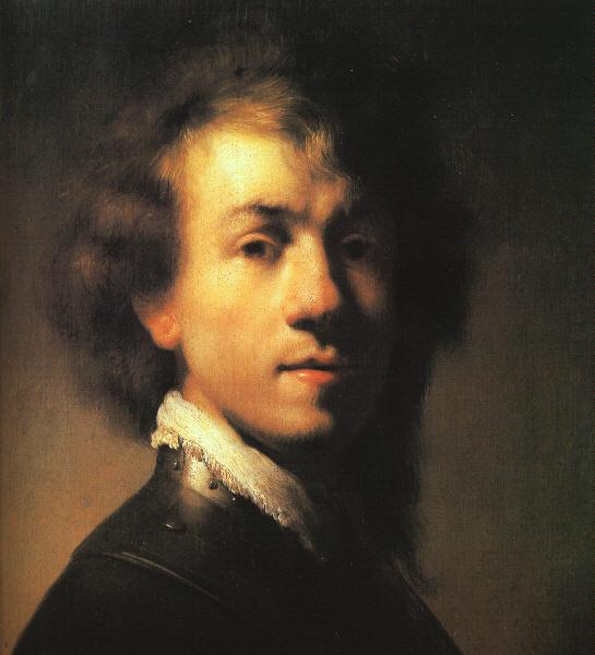 Rembrandt Self Portrait with Lace Collar France oil painting art