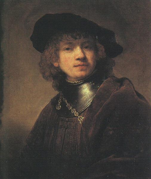 Rembrandt Self Portrait as a Young Man France oil painting art