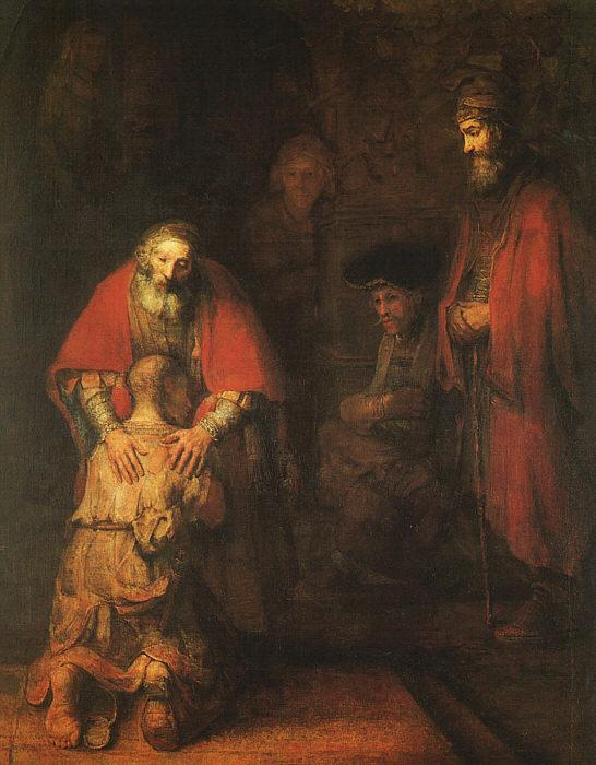 Rembrandt The Return of the Prodigal Son France oil painting art